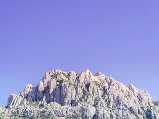 Mountains overlooking Zadar, Croatia