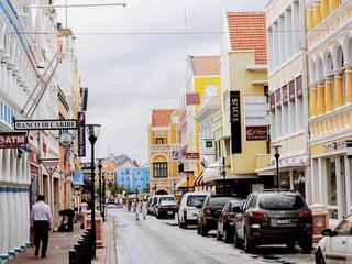 A colourful street in Willemstad, Curaçao