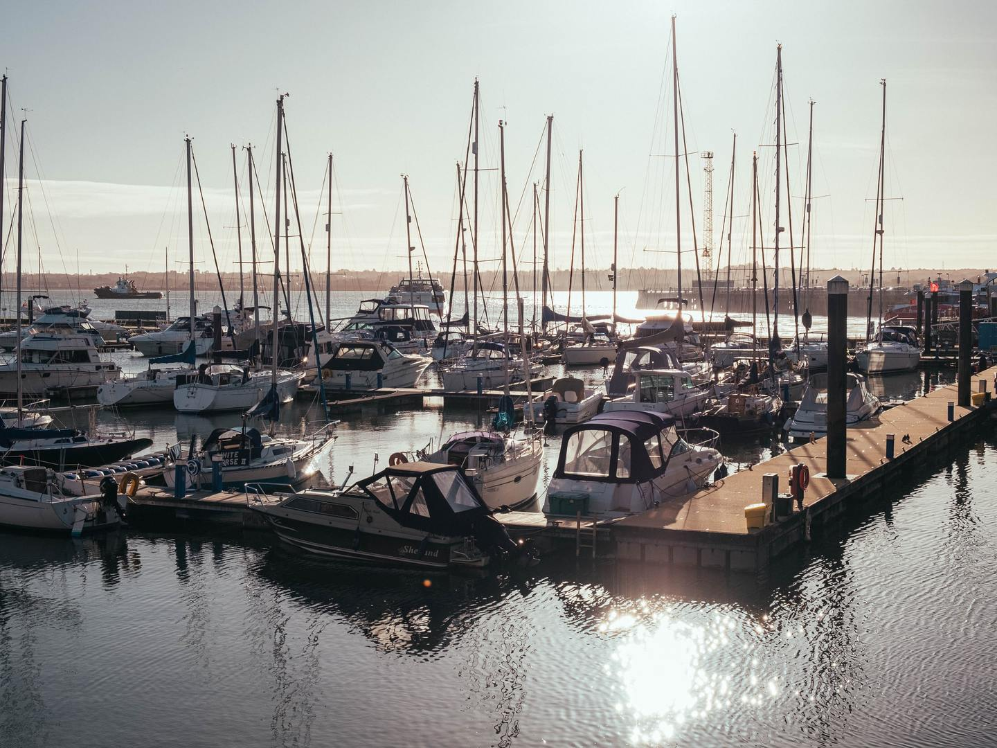 Boats in Southampton Harbour