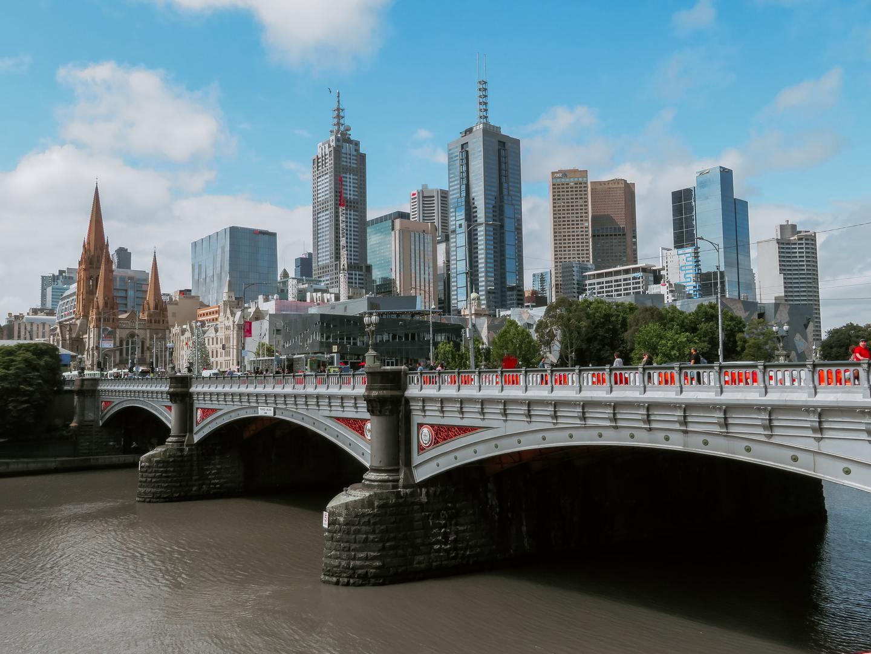 The skyline in Melbourne, Australia