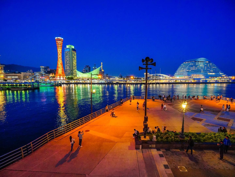 The port in Kobe, Japan