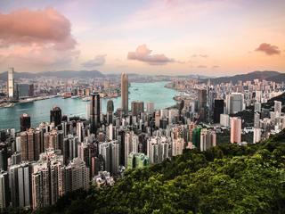 Hong Kong skyline view from Victoria Peak