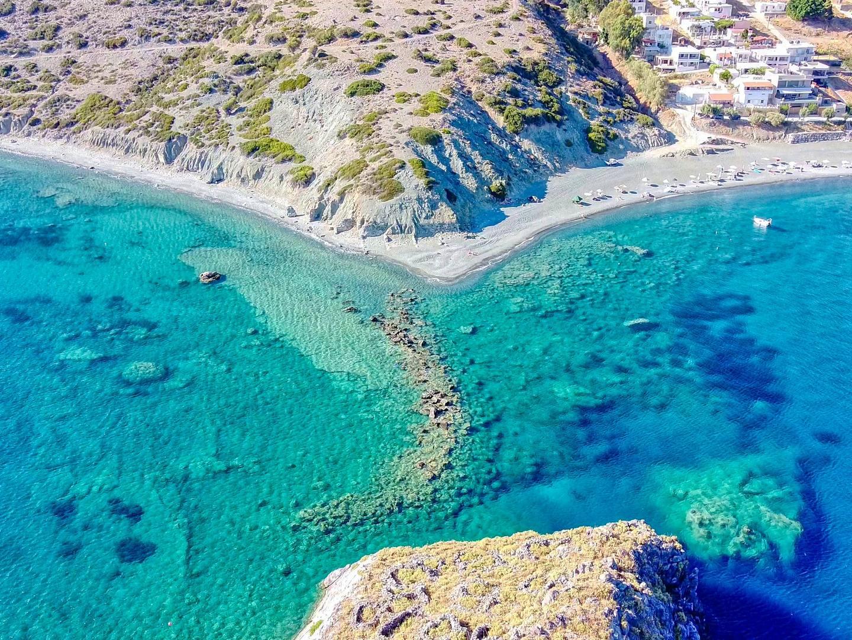 The beach at Kaloi Limenes on the island of Crete, Greece