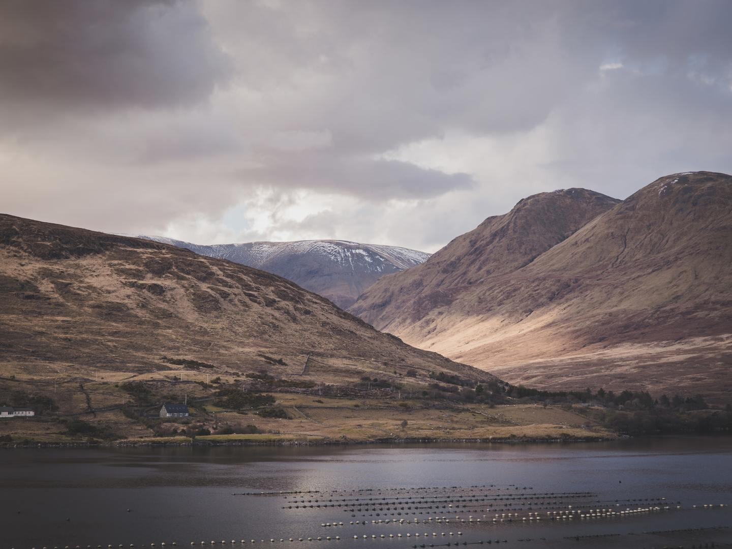 Killary Harbour on the border between the counties of Galway and Mayo