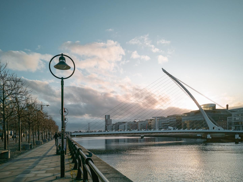 Samuel Beckett Bridge in Dublin, Ireland