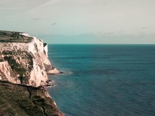 The famous White Cliffs of Dover, United Kingdom