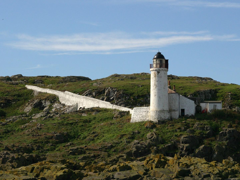 Lighthouse on Isle of May, UK