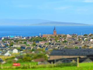 The town of Kirkwall on the Orkney Islands