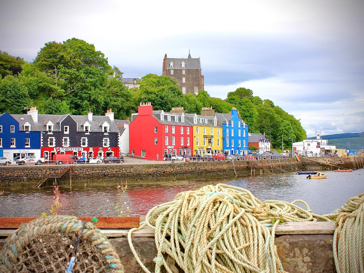 The colourful seafront of Oban, Scotland