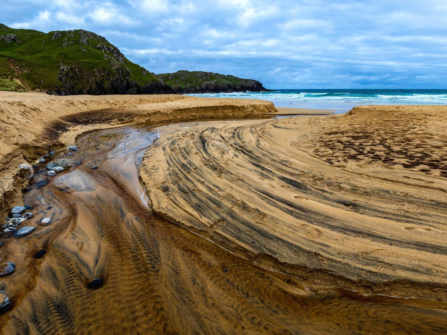 A beach on the Isle of Lewis in the Outer Hebredies