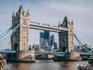 The iconic Tower Bridge in London.