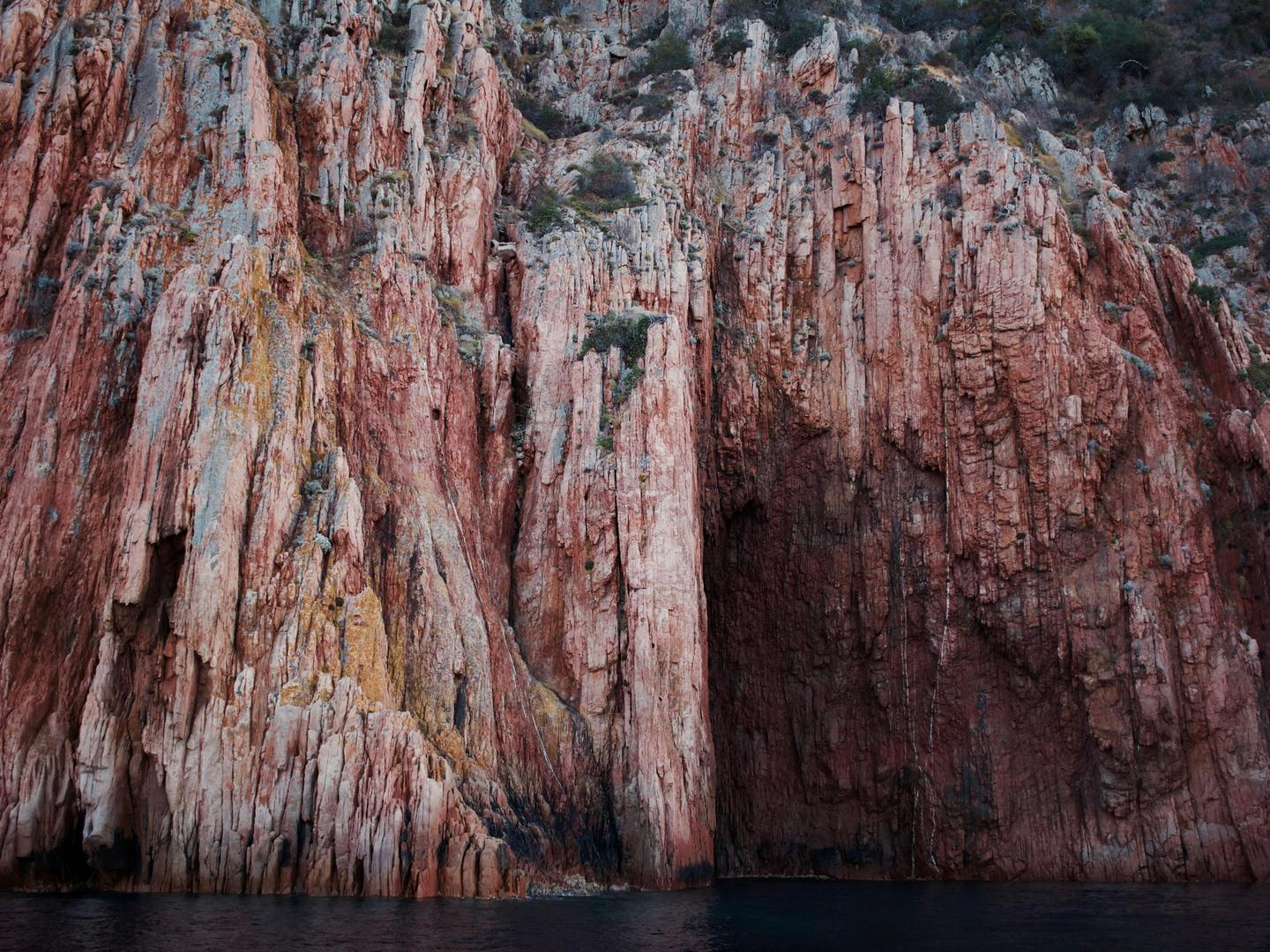 Dramatic cliff face in Corsica
