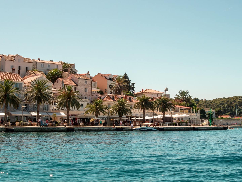 Waterfront harbour in Hvar, Croatia