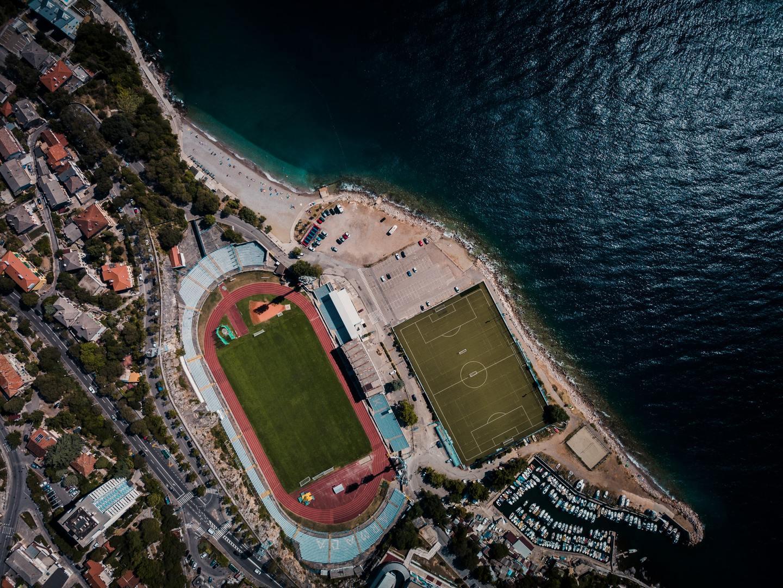 The town of Rijeka, Croatia from above