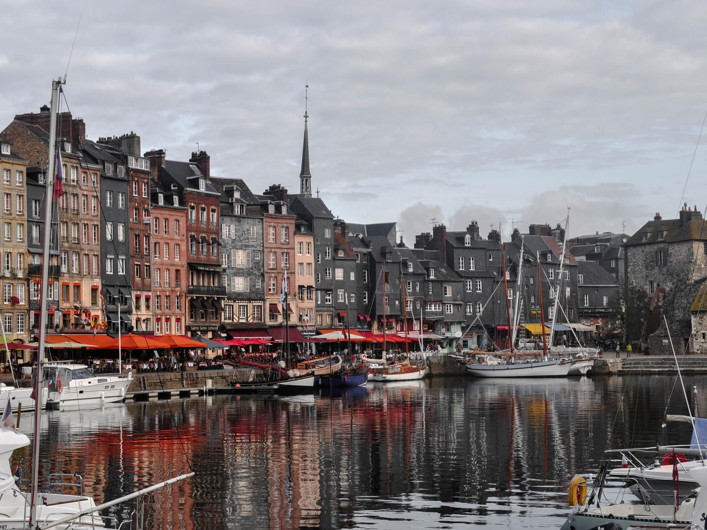 The harbour in Honfleur, France