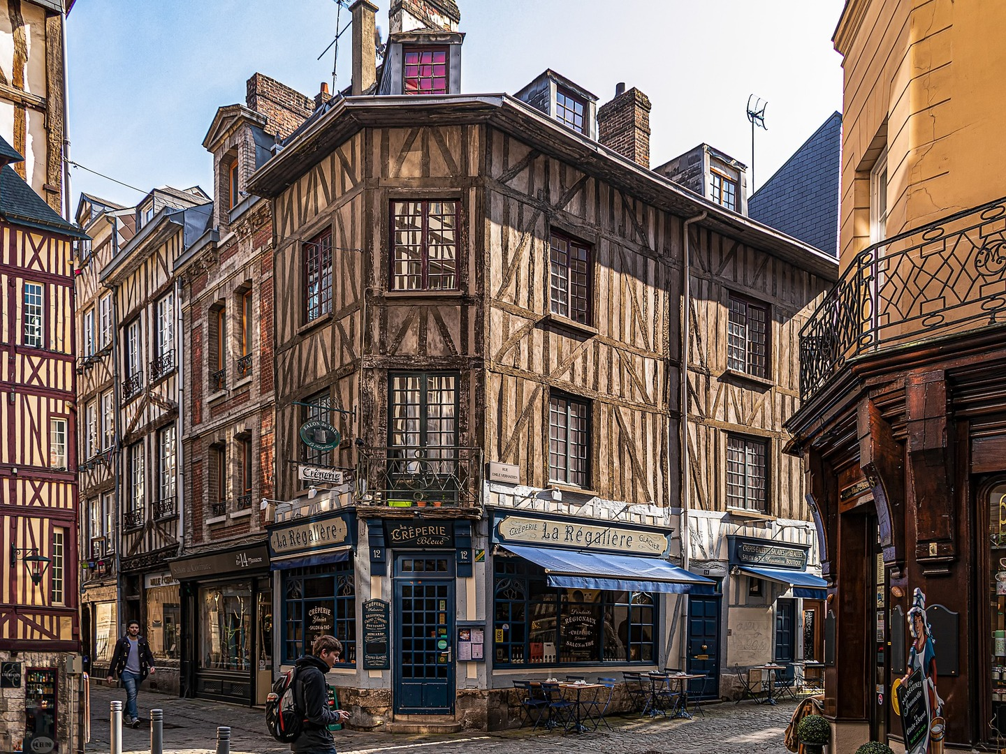 The city of Rouen, France