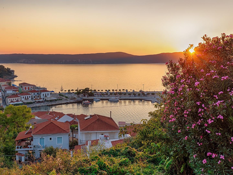 Sunset over Pylos, Greece